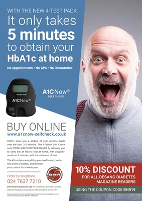 Home test HbA1c A1C Now