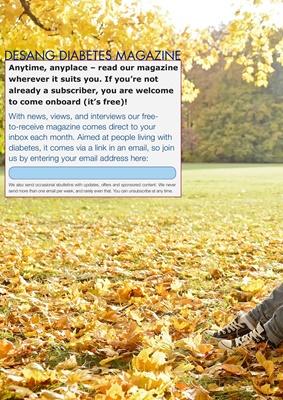 Free online Desang diabetes magazine, diabetes information