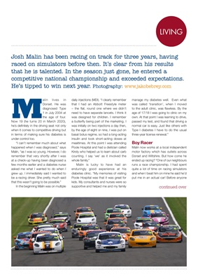 My Diabetes Kit Josh Malin racing