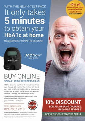 Home test HbA1c, A1C Now Self-Check
