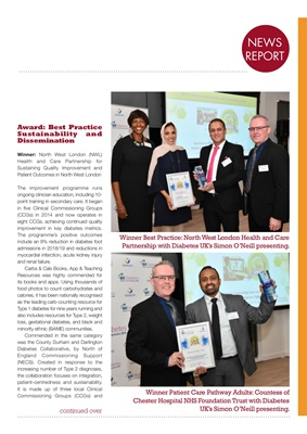 Quality in Care (QiC) diabetes awards, Sanofi diabetes, Simon O'Neill Diabetes UK, Type 1 diabetes