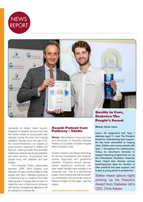 Quality in Care (QiC) diabetes awards, Sanofi diabetes, Type 1 diabetes