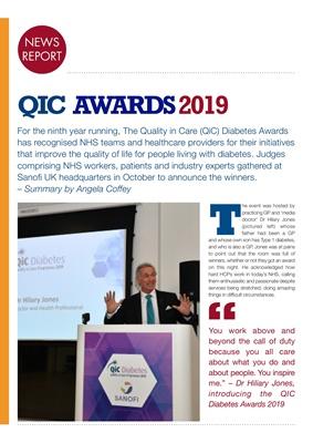Quality in Care (QiC) diabetes awards Sanofi, Dr Hilary Jones Type 1 diabetes