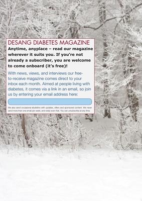 Desang Diabetes Magazine free to subscribe