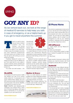Diabetes Medical ID, MediPal, Bulter and Grace diabetes ID