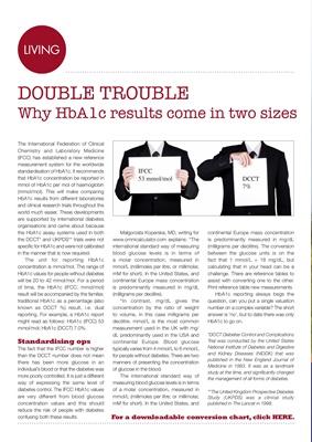 Reporting HbA1c