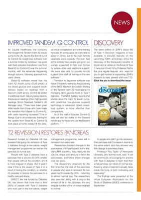 Desang diabetes magazine diabetes news, Tandem Control IQ