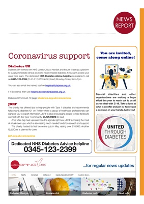 Diabetes and coronovirus Desang Diabetes Magazine, resources covid-19 and diabetes