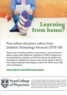 Diabetes technology education from Diabetes Technology Network DTN