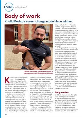 Omnipod ambassador Khalid Keshta