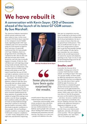 Dexcom G6 CGM, continuous glucose monitoring, Dexcom G7, Kevin Sayer