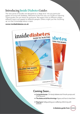 Desang diabetes, Inside Diabetes guides, guide to injecting insulin, guide to injecting for people w