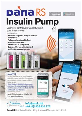 insulin pump, Dana RS system, artificial pancreas, Dana Diabecare, Advanced Therapeutics UK, SOOIL D