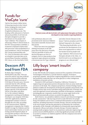 Diabetes news, Dexcom, ViaCyte, Lilly
