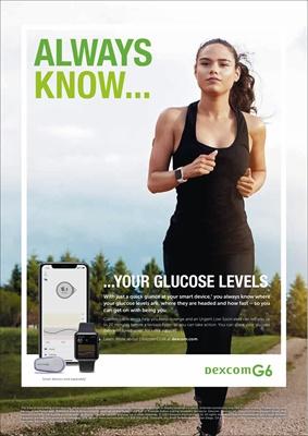Dexcom G6 CGM, continuous glucose monitoring