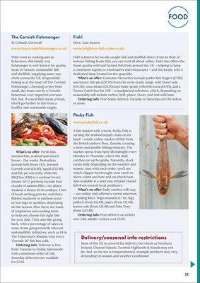 diabetes food news, pesky fish, the cornish fishmonger, brighton and hove fish