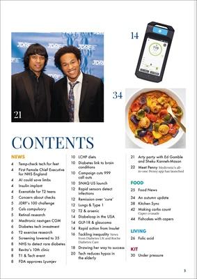 Desang diabetes, magazine diabetes information, Sue Marshall diabetes, Snaq