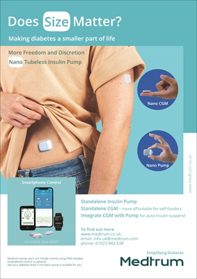 Medtrum A6 Touchcare Nano patch pump and CGM in harmony