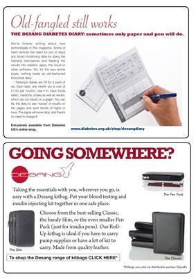Desang Range of Diabetes Kitbags, Desang Classic Kitbag, Desang blood test diary