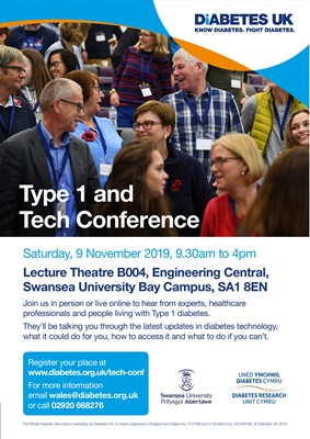 Diabetes UK Swansea Type 1 Tech conference November 2019