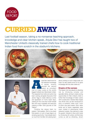 Chef Anjula Devi, Manchester United, Indian food
