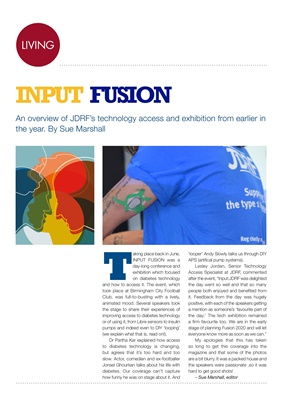 JDRF Input Fusion, diabetes technology