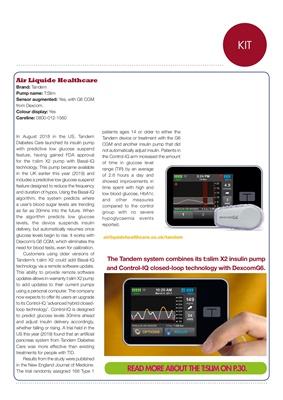 Air Liquide Tandem S:slim X2 insulin pump