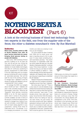 Nothing Beats a Blood Test, Brett Lewis MD Roche UK, Dr Iain Cranston, Portsmouth University Hospita