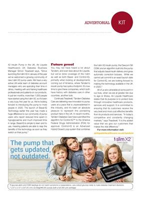 Air Liquide Healthcare UK Tandem t:slim insulin pump with Basal IQ
