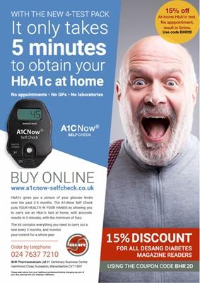 Home test HbA1c, A1C Now Self-Check