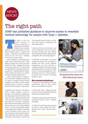 JDRF Type 1 diabetes charity, Pathway to Choice access to diabetes technology, Karen Addington