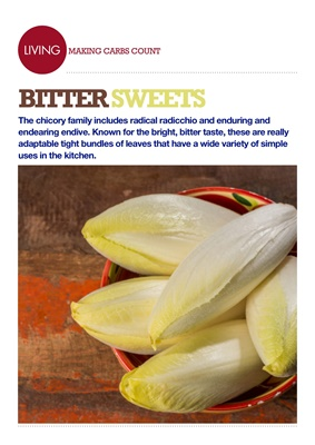 Making Carbs Count, nutrition of chicory, endives, radicchio
