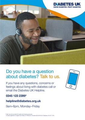 Diabetes UK helpline