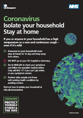 NHS UK coronovirus information