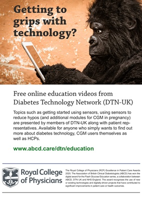 Association of British Clinical Diabetologists, Diabetes Technology Network, Libre Flash education p
