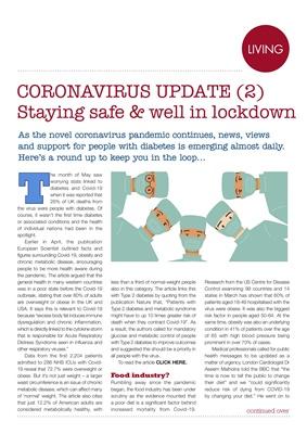 diabetes and coronavirus and Covid-19