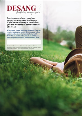Free online Desang diabetes magazine for the UK by Sue Marshall, diabetes information, diabetes rese