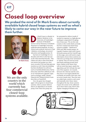Dr Mark Evans CamAPS, Free online Desang diabetes magazine for the UK by Sue Marshall, diabetes info