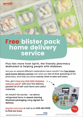 Spirit pharmacy national medicines dispensing service and advice for people with diabetes