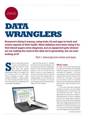 Managing diabetes data