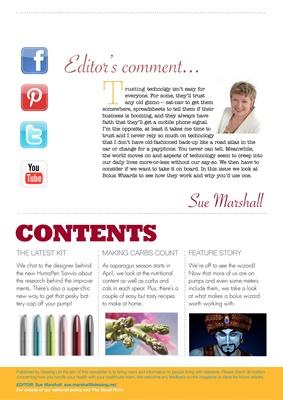 Desang Magazine, sue marshall, editors comment