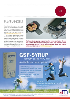 diabetes kit, GSF syrup, Arctic Medical, pump key