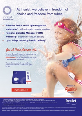Omnipod Insulet insulin pump with insulin pods, podders