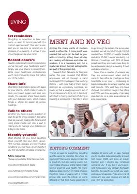 Desang diabetes magazine, digital detox, keep fit eat fit