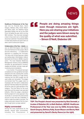 Desang diabetes magazine Quality in Care diabetes awards