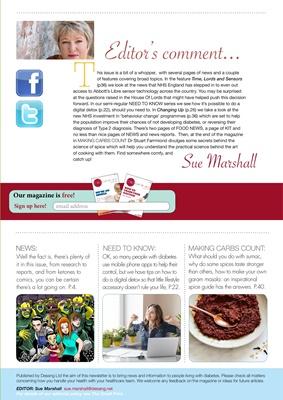 Desang diabetes magazine diabetes information, Sue Marshall