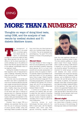 Matthew Anson, blood testing, HbA1c, CGM and Time In Range