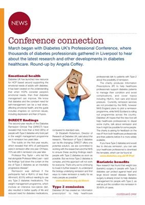 Desang diabetes magazine diabetes news, Diabetes UK