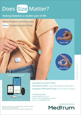 Medtrum Touchcare Nano patch pump and CGM in harmony