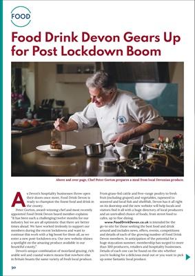 Diabetes food news, Devon food and drink, Chef Peter Gorton